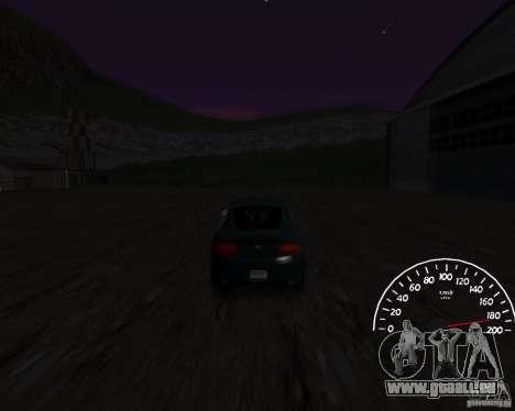 Bêta de l'indicateur de vitesse 0,5 pour GTA San Andreas deuxième écran