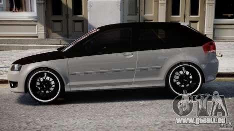 Audi S3 pour GTA 4 Vue arrière de la gauche