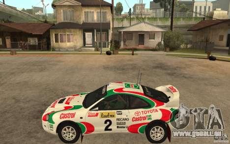 Toyota Celica GT4 DiRT für GTA San Andreas linke Ansicht