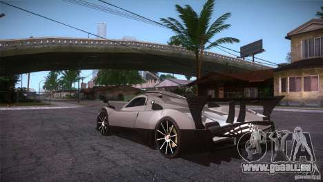 Pagani Zonda R für GTA San Andreas zurück linke Ansicht