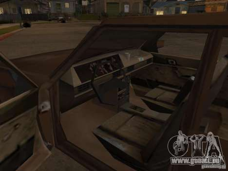 Machine de CoD MW 2 pour GTA San Andreas vue intérieure