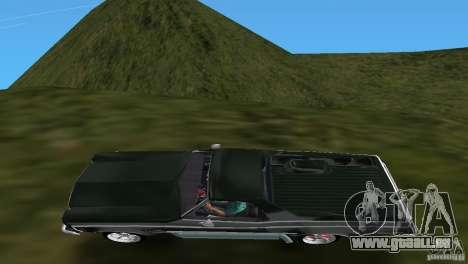 Chevrolet El Camino Idaho pour GTA Vice City vue arrière