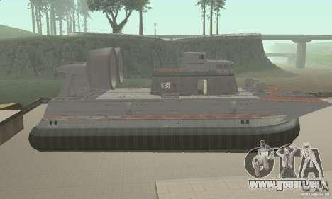 Aéroglisseur pour GTA San Andreas sur la vue arrière gauche