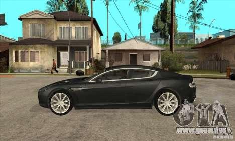 Aston Martin Rapide 2010 pour GTA San Andreas laissé vue