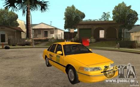 Ford Crown Victoria Taxi 1992 für GTA San Andreas Rückansicht