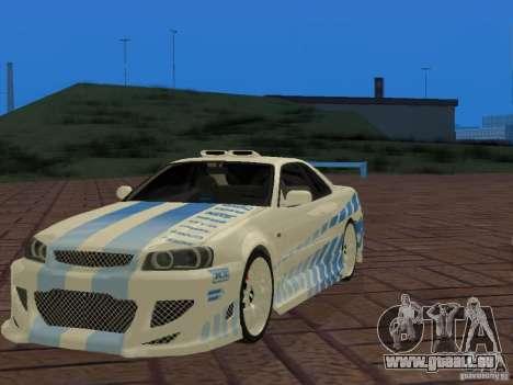 Nissan Skyline GT-R R34 Tunable für GTA San Andreas Seitenansicht
