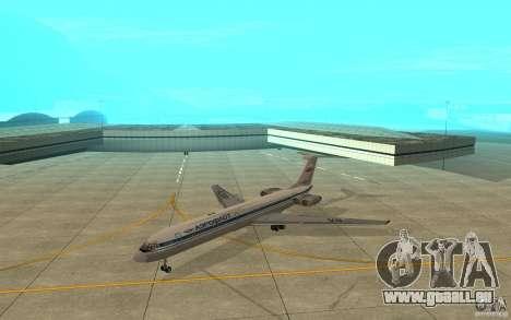 Aeroflot Il-62 m pour GTA San Andreas laissé vue
