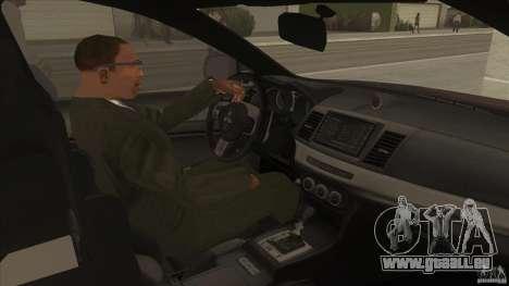Proton Inspira v1 für GTA San Andreas Innenansicht
