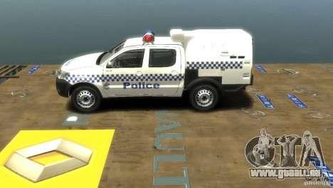 Toyota Hilux Australian Police ELS pour GTA 4 Vue arrière