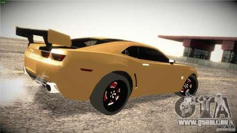 Chevrolet Camaro SS Transformers 3 pour GTA San Andreas vue de droite