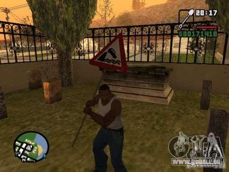Straßenschild für GTA San Andreas dritten Screenshot