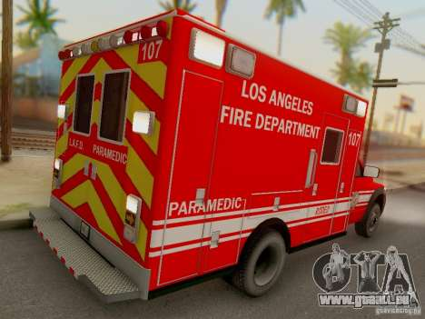 Dodge Ram 1500 LAFD Paramedic für GTA San Andreas rechten Ansicht