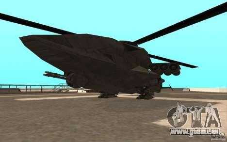 MQ Drone from BO2 pour GTA San Andreas vue de droite