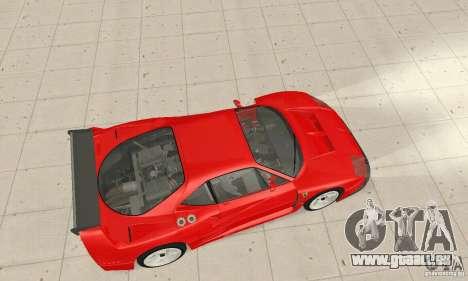 Ferrari F40 Competizione pour GTA San Andreas sur la vue arrière gauche
