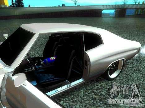 Chevrolet Chevelle SS Domenic from FnF 4 pour GTA San Andreas sur la vue arrière gauche