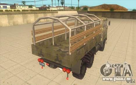 IFA 6x6 Army Truck pour GTA San Andreas sur la vue arrière gauche