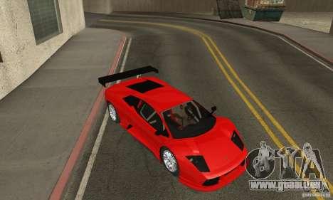 Lamborghini Murcielago R GT pour GTA San Andreas vue intérieure