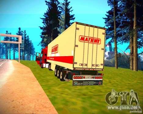 Semi-remorque pour GTA San Andreas sur la vue arrière gauche