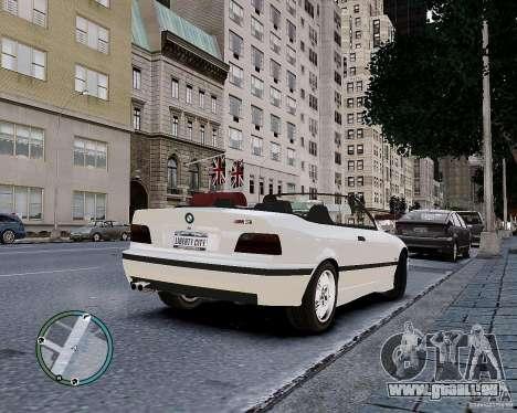 BMW M3 e36 1997 Cabriolet pour GTA 4 est une vue de l'intérieur