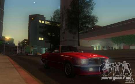 Mercedes-Benz 350 SL Roadster pour GTA San Andreas sur la vue arrière gauche
