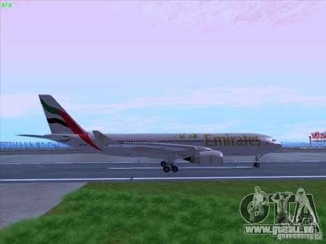 Airbus A330-200 Emirates pour GTA San Andreas laissé vue