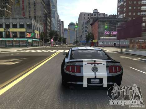 Ford Shelby GT500 2010 WIP für GTA 4 obere Ansicht