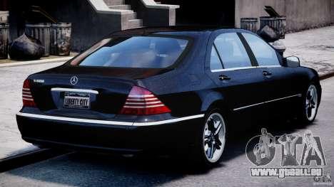 Mercedes-Benz W220 für GTA 4 Seitenansicht