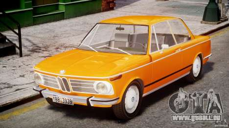 BMW 2002 1972 pour GTA 4 est une gauche