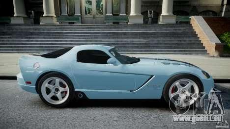 Dodge Viper SRT-10 pour GTA 4 est une vue de l'intérieur