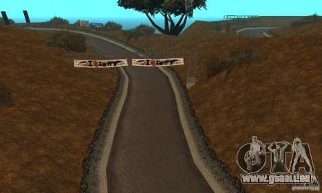 La route de NFS Prostreet pour GTA San Andreas deuxième écran