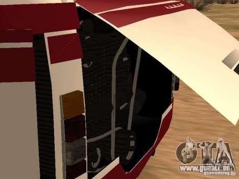 LAZ 695 für GTA San Andreas Rückansicht