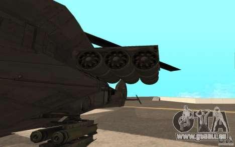 MQ Drone from BO2 für GTA San Andreas linke Ansicht