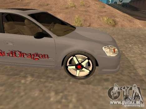 NISSAN ALTIMA pour GTA San Andreas vue de côté