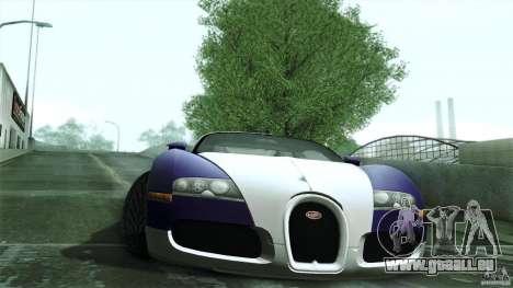 Bugatti Veyron 16.4 pour GTA San Andreas sur la vue arrière gauche