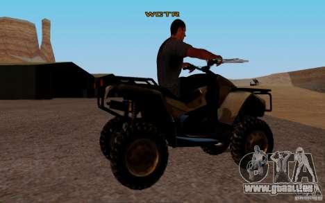 Quadbike from BF 3 pour GTA San Andreas sur la vue arrière gauche