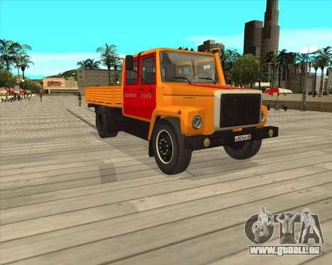 GAZ 3309-Warnblinkanlage für GTA San Andreas linke Ansicht