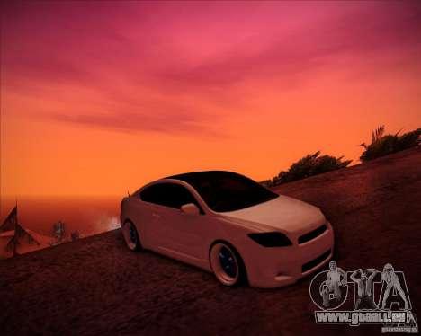 Scion tC Blue Meisters pour GTA San Andreas vue de dessus