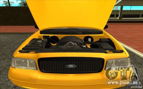 Ford Crown Victoria Taxi 2003 für GTA San Andreas zurück linke Ansicht