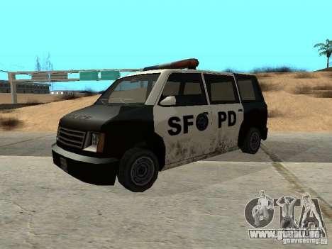 Moonbeam Police pour GTA San Andreas sur la vue arrière gauche