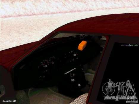 VAZ 2109 hiver pour GTA San Andreas laissé vue