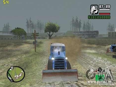Bouteur du Kazakhstan DT-75 pour GTA San Andreas vue arrière