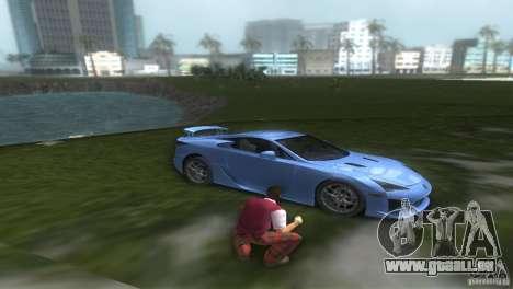 Lexus LFA pour une vue GTA Vice City de la droite