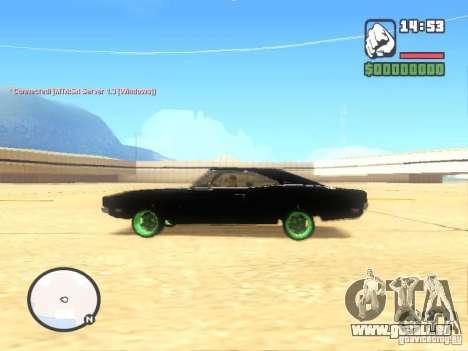 Dodge Charger Custom 1969 pour GTA San Andreas laissé vue