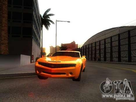 Chevrolet Camaro 2007 pour GTA San Andreas laissé vue