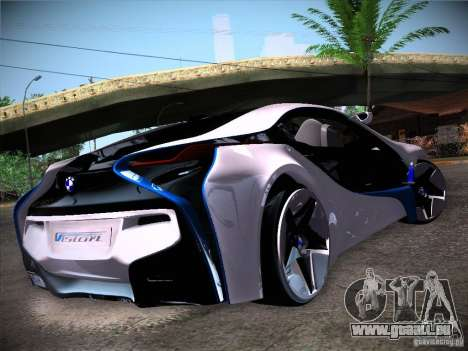 BMW Vision Efficient Dynamics I8 für GTA San Andreas zurück linke Ansicht