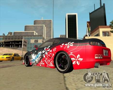Toyota Supra by Cyborg ProductionS pour GTA San Andreas sur la vue arrière gauche
