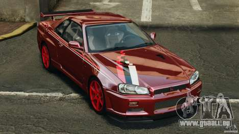 Nissan Skyline GT-R R34 2002 v1.0 für GTA 4