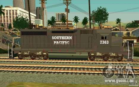 Southern Pacific SD 40 pour GTA San Andreas laissé vue