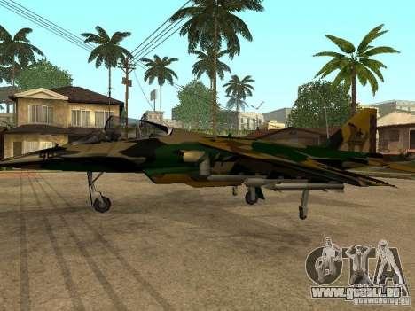 Camouflage pour Hydra pour GTA San Andreas vue de droite