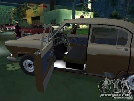 GAZ M21T Taxi pour GTA San Andreas vue de côté